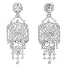 amazing art deco style faux diamond chandelier earrings at 1stdibs with regard to contemporary residence diamond chandelier earrings remodel