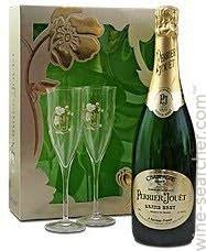 perrier jouet grand brut with gles chagne france