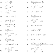 exponential equations worksheet 1