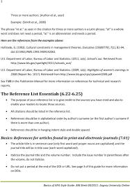 Basics Of Apa Style For References Pdf