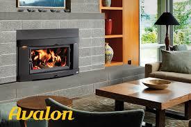 wood fireplace inserts avalon
