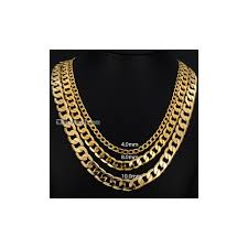 Necklace Width Chart Mens Necklace Gold Filled Curb Cuban Link Gold Chain