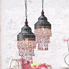 shabby chic pendant lighting. Shabby Chic Pendant Lighting Antique Lamp Colourful Beads Hanging S