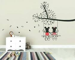 minnie mouse wall art mickey mouse tree swing wall sticker wall art decal like this item on mickey mouse metal wall art with minnie mouse wall art drivenwide fo