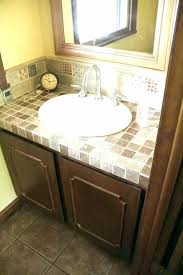 tiling bathroom countertops can you paint throom how to a tile vanity spray s