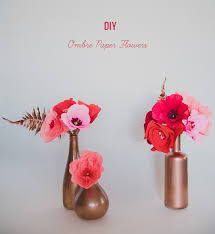 Paper Flower Mobiles Diy Ombre Paper Flowers