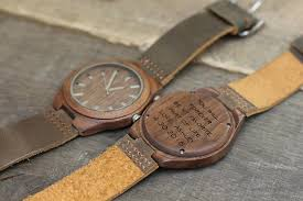 havern the olympic mini st leather and walnut mens wood watch havern the olympic mini st leather and ebony mens wooden watch personalized gifts