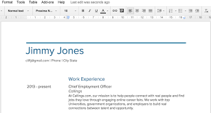 Gallery Of Google Docs Resume Templates Sample Resume Cover Letter
