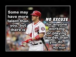 Baseball Motivation Quote Poster Inspirational Wall Art Gift Champion Fan Photo Wall Decor Kids Bedroom Bryce Harper 8x10 11x14