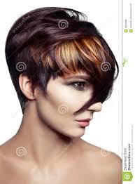 Manierportret Van Een Mooi Meisje Met Gekleurd Geverft Haar