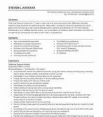 Tech Support Resume Fresh Technical For Experienced 74 In Sample
