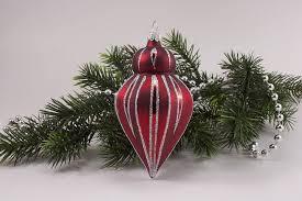 1 Zwiebelturm Rot Matt Antik Silber Gst Lauschaer Weihnachtskugeln