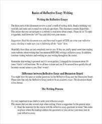reflective writing samples reflective essay writing outline