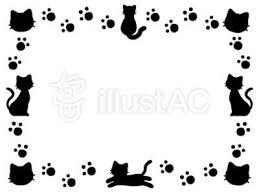 フリーイラスト素材no1 猫フレーム飾り枠 誰かの力になれるブログ