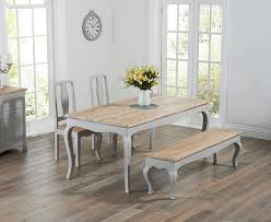 table 2 chairs and bench. mark harris sienna oak and grey 175cm dining set with 2 chairs bench table u