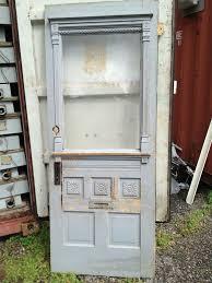 antique doors glass panel door