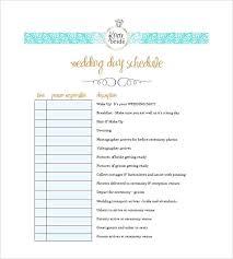Sample Wedding Day Timeline Template Wedding Day Agenda
