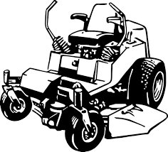 commercial lawn mower silhouette. lawn mower zero turn clipart kid commercial silhouette