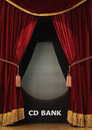 burdy theatre curtains gold fringe
