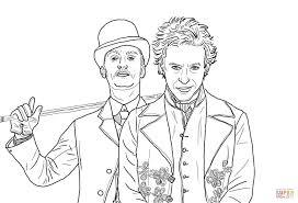 Coloriage Sherlock Holmes Jeu D Ombres Coloriages Imprimer