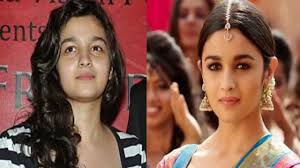bollywood actresses with and without makeup