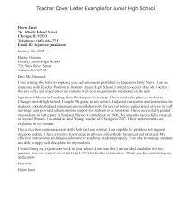 Teacher Cover Letter Example High School Cover Letter No Experience Bitacorita