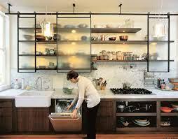 modern kitchen floating shelves 14