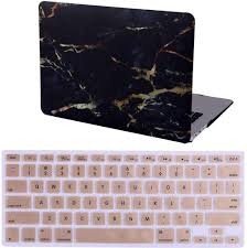 Macbook Air 13 Inch Case Designer For Macbook Air 13 Inch Case Marble Designer Hard Shell Rubber Coated Plastic Cover With Keyboard Skin Black And Gold Color