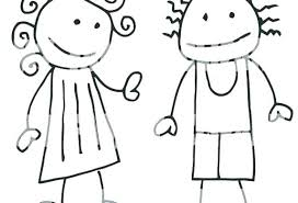 Coloring Pages Boy And Girl Ourwayofpassioncom