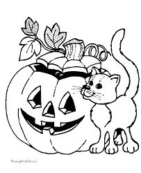 Small Picture Cute Coloring Pages Pumpkin Halloween ScaryColoringPrintable