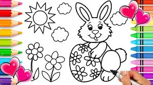 easter bunny coloring page easter coloring book glitter easter egg printable coloring page