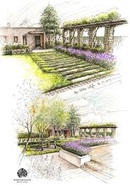 Small Picture Design for private garden Oldscool hand sketshed gardenplan