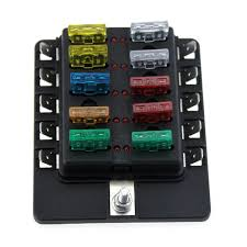 10 way boat car blade fuse box holder truck rv vehicle fuse block rv fuse box latch 10 way boat car blade fuse box holder truck rv vehicle fuse block with spade terminals