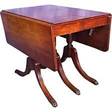 1930 duncan phyfe antique gany drop leaf dining table console sofa vine