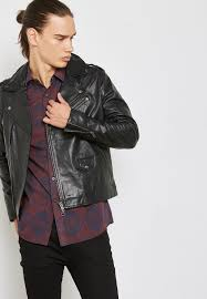 topman black leather biker jacket 64l02pblk for men in qatar to857at60uit