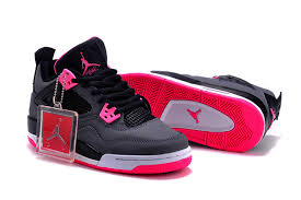 air jordan shoes for girls grey. 2015 air jordan 4 gs black grey hyper pink for sale-8 shoes girls l