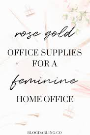 feminine office supplies. Rose Gold Office Supplies Feminine C