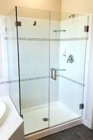 showers corner shower glass enclosure door notch tub swing shelf with rail