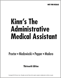 Kinns The Administrative Medical Assistant E Book Kindle