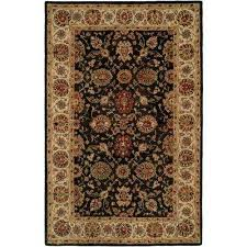 empire black ivory 4 ft x 6 ft area rug