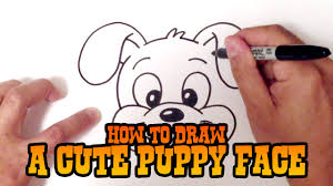 Small Picture How to Draw a Cute Puppy Face Step by Step YouTube