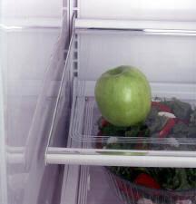 """ge profileâ""""¢ 19 0 cu ft top mount no frost refrigerator 4 split adjustable spill proof glass fresh food cabinet shelves 3 dlide out"""