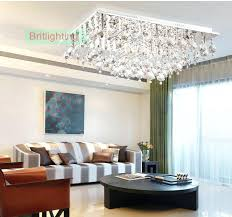 Flush Ceiling Lights Living Room Magnificent Crystal Flush Ceiling Light Cascade 48 Chrome Finish And Clear Mount