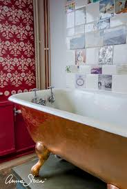 a painted and gilded bath at annie sloan hq
