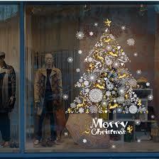 Weihnachtsdeko Wandaufkleber Bovake Christmas Shop Fenster Dekoration Wand Abnehmbare Aufkleber Weihnachtsbaum Hirsch