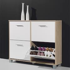 shoe storage hallway furniture. Latest Hallway Shoe Storage Cabinet With Modern In Canadian Oak And White Furniture T