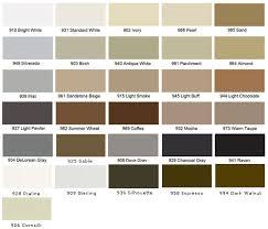 Silicone Sealant Coverage Chart Latex Colored Caulk Tec Color Line