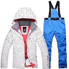 Amazon.com : <b>Ski Jacket Pants</b> Set <b>Winter Womens</b> Snowsuit ...