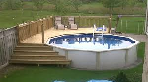 leveling ground for above ground pool best of stone deck ideas above ground pool deck ideas