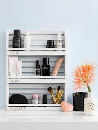 makeup storage diy makeup organizer using target e rack domino
